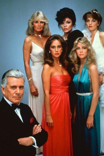 Dynasty John Forsythe Joan Collins Linda Evans Pamela Sue Martin Heather Locklear Pamela Bellwood 24x36 TV Poster