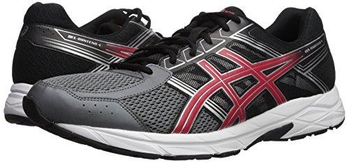 41r-KnhlNYL ASICS Men's Gel-Contend 4 Running-Shoes, Carbon/Classic Red/Black, 10 Medium US