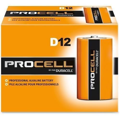 Gillette PC1300 Duracell Alkaline Battery, D, 1.5V (Pack of 12)