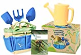 Gardening Tools for Kids with STEM Early Learning Guide by ROCA Home. Outdoor Toys and Learning Toys. Cute Garden Bag.