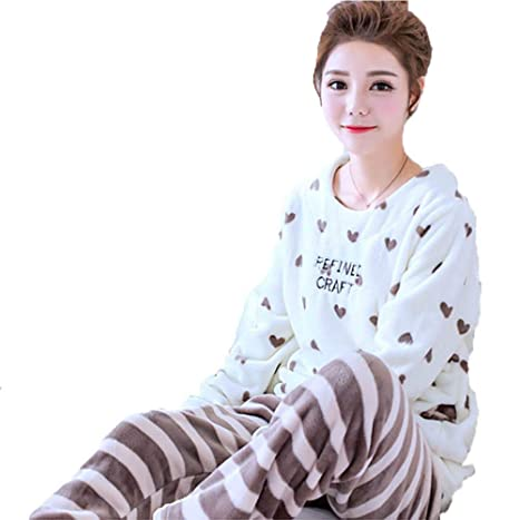 Amazon.com  GYH Womens Long Sleeve Pajamas Set dde76b6d1