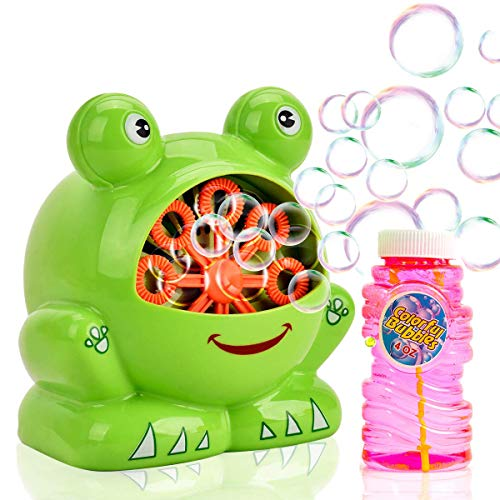 Toytykes Frog Shaped Bubble Machine | Premium Material | Ideal for Every Occasion | Endless Fun for Kids | Colorful Bubbles | Simple to Use | Best for Gift]()