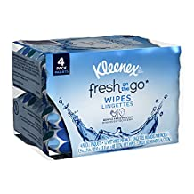 Kleenex Fresh On the Go Moist Wipes, 12 Tissues per Soft Pack, 4 Pack