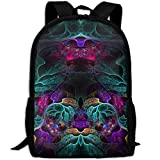 Markui Adult Travel Hiking Laptop Backpack Creative Artwork School Multipurpose Durable Daypacks Zipper Bags Fashion