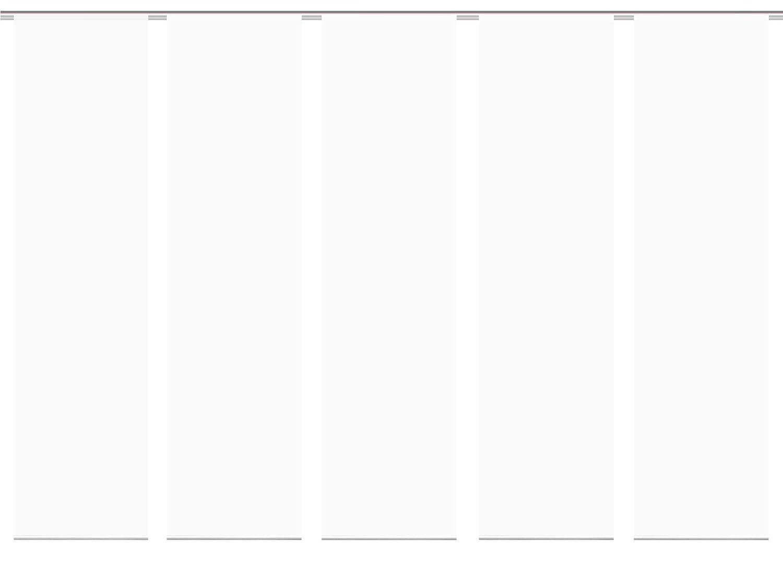 wohnfuehlidee 6er-Set Fl/ächenvorh/änge ROM transparent Uni Weiss