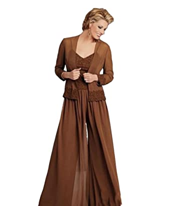 88682a15749d9 Ai Maria Women s Plus Size Mother of The Bride Pants Suits with Jacket  Applique at Amazon Women s Clothing store