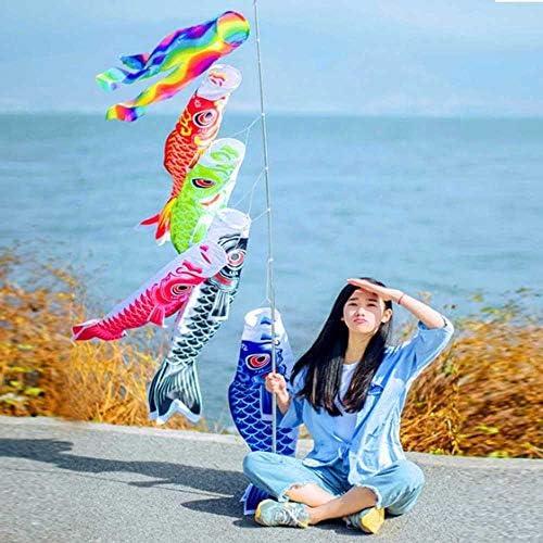 装飾をぶら下げカラフルな日本のこいのぼり吹き流し鯉風ソックスこいのぼり魚カイト旗パーティーホーム庭 GBYGDQ (Color : Red)