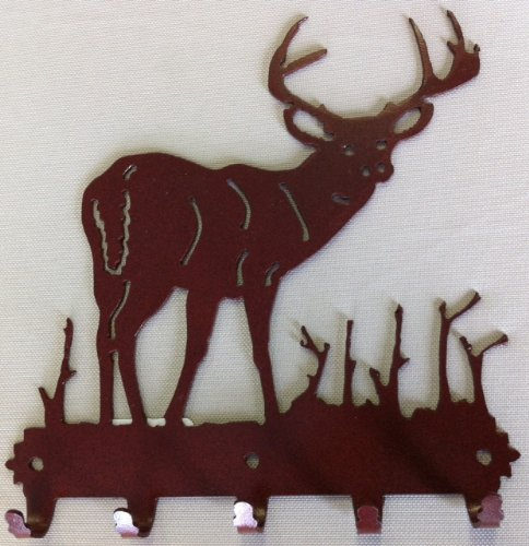 Deer Buck Key Holder (Metal Rust ()