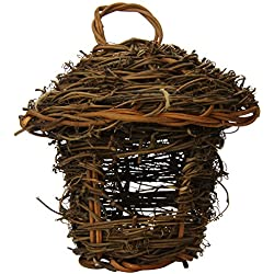 Prevue Pet Products BPV1170 Grapevine Stick Bird Thatched Hut Nest with Sisal Rope