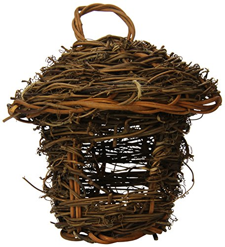 Prevue Pet Products BPV1170 Grapevine Stick Bird Thatched Hut Nest with Sisal ()