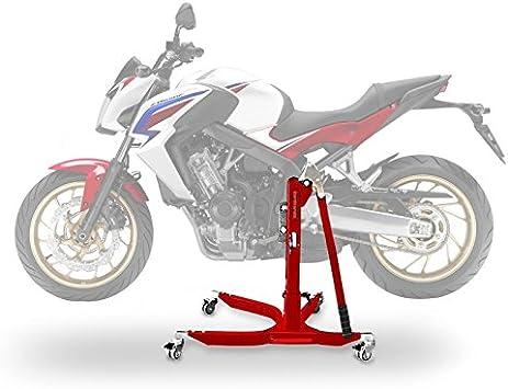 Constands Power Classic Zentralständer Für Honda Cb 650 F 14 18 Rot Motorrad Aufbockständer Heber Montageständer Auto