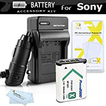 Battery And Charger Kit For Sony DSC-RX100M III, DSC-RX1, DSC-HX300, DSC-WX300, DSC-HX50V/B, HDR-AS15 HDR-AS30V HDR-MV1,HDR-AS100V, HDR-CX440, HDR-CX405, HDR-PJ440, FDR-X1000V, AS200V Camcorder Includes Replacement (1600Mah) NP-BX1 Battery + Ac/Dc Charger