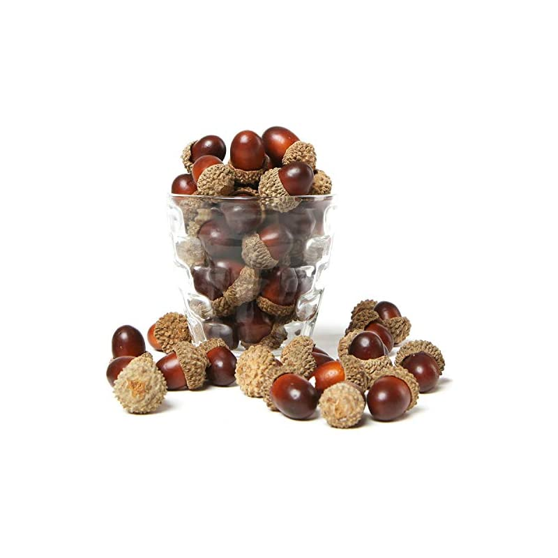 silk flower arrangements mygift 100 pieces brown assorted artificial acorn caps, autumn vase filler decorations