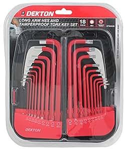 Dekton dt85529 juego de llaves acodadas para tornillos torx largas inalterables 18 piezas - Dekton problemas ...