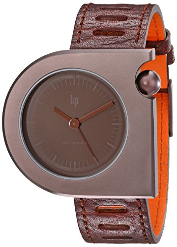 Lip Unisex 1892262 Mach Moon Analog Display Swiss Quartz Brown (Mach Lip)
