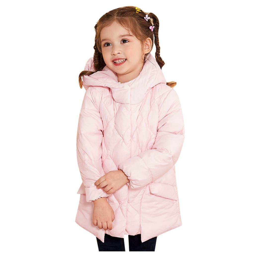 FILOL Toddler Kids Baby Girls Boys Casual Warm Hooded Winter Jacket Coat Outerwear Pink by FILOL apparel