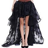 Search : Aiuem Women Preto Floral Fluffy Tulle babados Chiffon Saias Combinando Trajes Burlesque Skirt