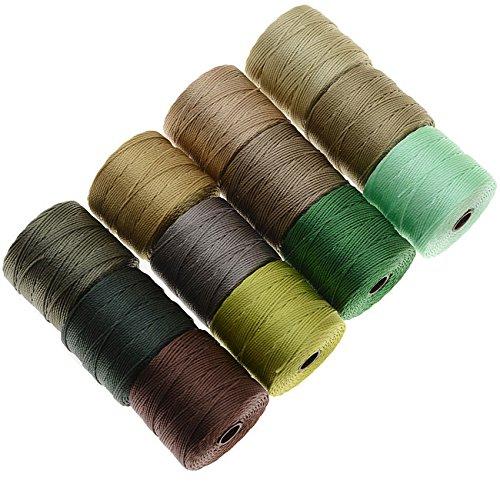 BeadSmith スーパーロン糸 -サマーミックス- 70mスプール12個 サイズ18号   B00INBWOBG