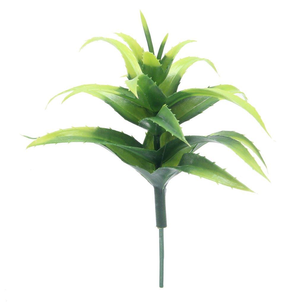qisuw人工ミニチュア多肉植物アロエ植物プラスチックホームガーデンOfficeウェディングデコレーション B07DJ6GLMW
