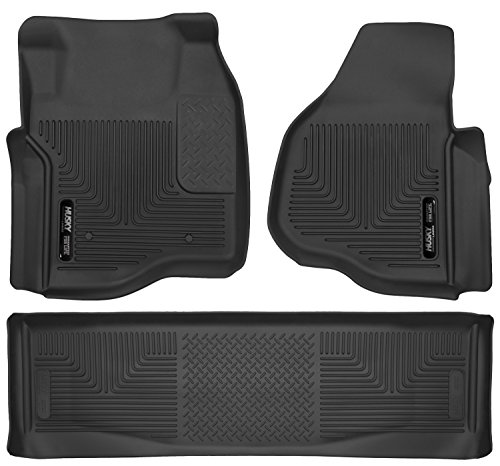 Husky Liners 53301-53401 - X-Act Contour - First and Second Rows All Weather Custom Fit Floor Liners for 2011-2016 Ford F-250/F-350/F-450 Super Duty Crew Cab ()