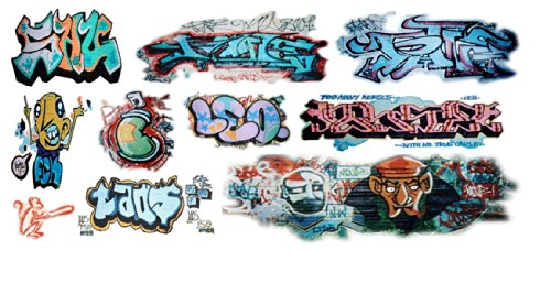 Ho scale custom graffiti decals