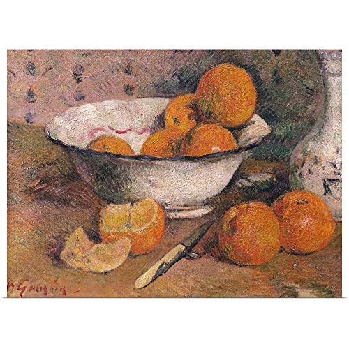 (GREATBIGCANVAS Poster Print Entitled Still Life with Oranges, 1881 by Paul (1848-1903) Gauguin 48