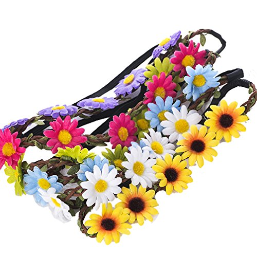 fbfd4a3578e 9 Pieces Flower Headband Garland - AWAYTR Bohemia Floral Crown for Women  Girl Hair Accessories for Wedding Festival Party Multi Color - Buy Online  in UAE.