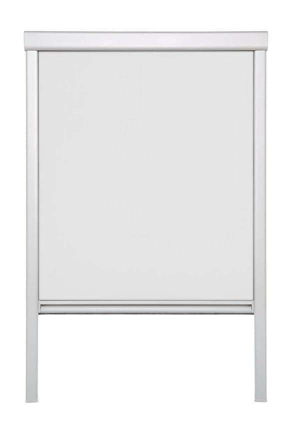 Lichtblick Dachfenster-Rollo Skylight, 49,3 x 100,0 cm (B x L) in Weiß, 100 % Verdunkelung, Thermo-Rollo für Velux-Fenster, S