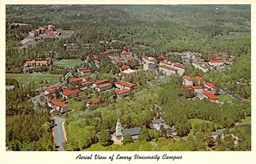 Atlanta Georgia Emory University Campus Aerial View Vintage Postcard JA4741806