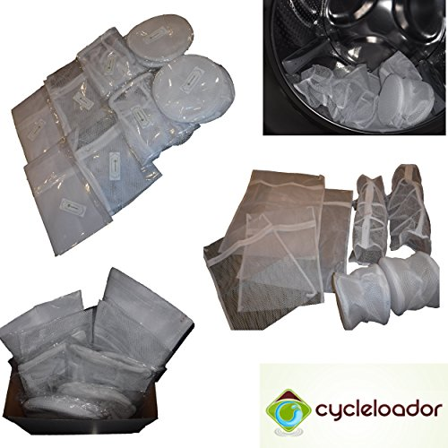 [Delicates, Bra, Hosiery & Sweater Mesh Laundry Bag (Set of 8 pcs) by Cycleloador] (Nice Sailor Costumes)