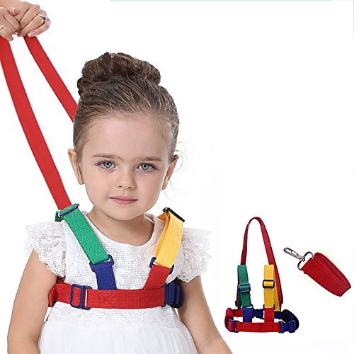 SCWYF Toddler Leash Harness, Kid Keeper & Baby Safety Harness Belt, Chest Sizes Adjustable Used for 1-7 Olds Child ( Red)