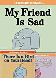 Elephant and Piggie Set of Three Books By Mo Willems Includes There Is a Bird on Your Head!, I Love My New Toy & My Friend Is Sad
