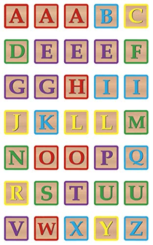 Maildor Cooky Alphabet Block Stickers, 1 Sheet