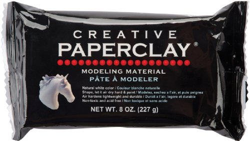 (Creative Paper clay, 8 Ounces, White)