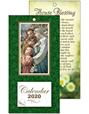 Catholic Gift Shop Ltd 2020 Calendar Holy Family with Liturgical Date Tab & Lourdes Prayer Card.