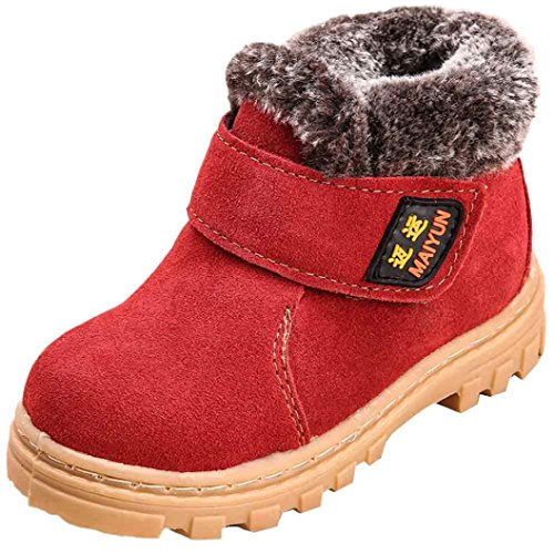 Jamicy® Baby Kind Kinder Mädchen Mode Winter Stil Baumwolle Stiefel warme Schneeschuhe Rot