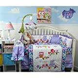 SoHo Baby Crib Nursery Bedding 10Pc Set, Lavender