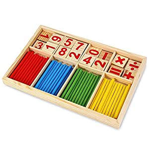 Baby Preschool Toys Montessori Counting Math Eduction for Boys and Girls