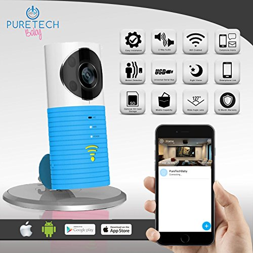 video baby monitor camera compatible with iphone and android wifi enabled nanny cam 2 way. Black Bedroom Furniture Sets. Home Design Ideas