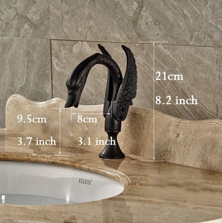 GOWE Deck Mounted Bathroom Vessel Sink Faucet Widespread Tub Faucet Oil Rubbed Bronze Finishh 5pc with Handshower color:style 2 3