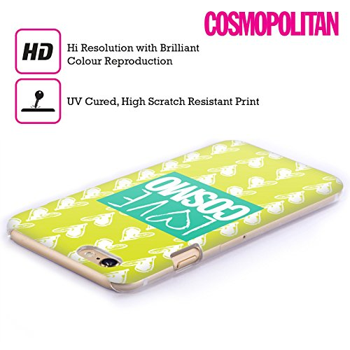 Official Cosmopolitan Yellow Green Love Cosmo Hard Back Case for Apple iPhone 5 / 5s / SE