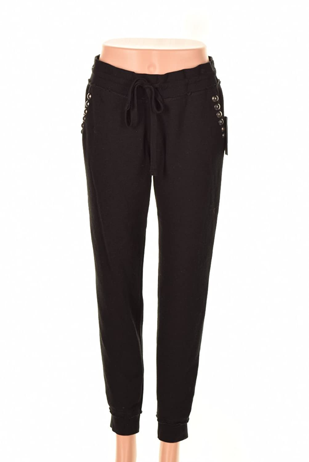 Guess Black Mid-Rise Studded Fleece Sweatpants XL