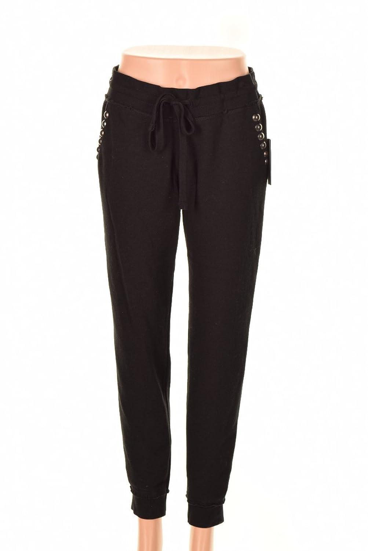 Guess Black Mid-Rise Studded Fleece Sweatpants XL