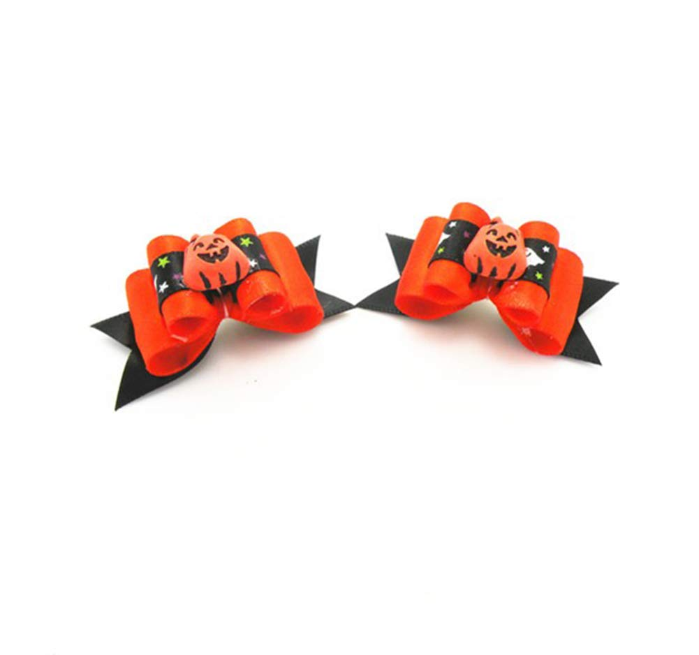 DAXINYANG 300PC/Lot Halloween Dog Bows Holiday Grooming Bows for Dogs Accessories Pet Supplies by DAXINYANG