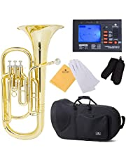 Cecilio Lacquered Yellow Brass Bb Baritone Horn and Tuner, Case - BR-280+92D