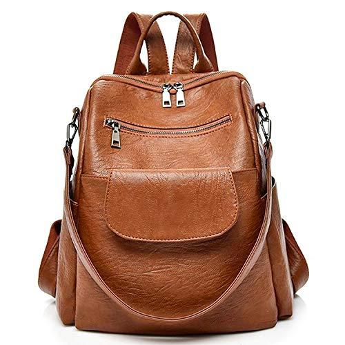 designer backpack waterproof shoulder Brown%E3%80%90PU%E3%80%91 product image