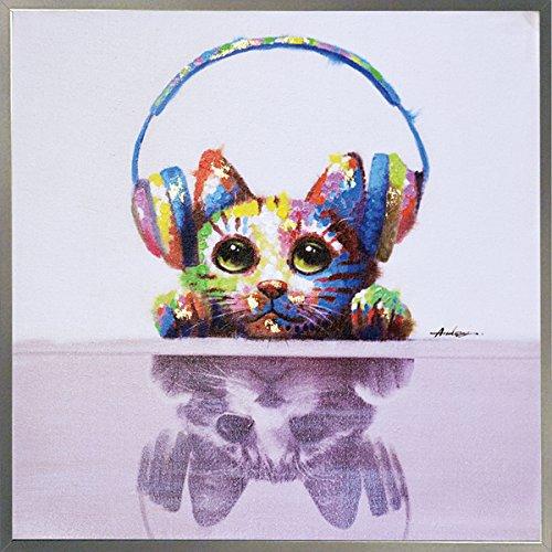 ユーパワー アートフレーム オイルペイントアート ハンドペイント 「ミュージックキャット」 OP-25061 OP-25061 B0152IQPUI