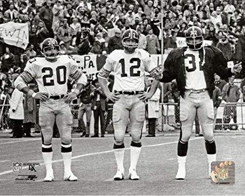 Franco Harris, Terry Bradshaw, Rocky Bleier Pittsburgh Steelers Action Photo (Size: 8