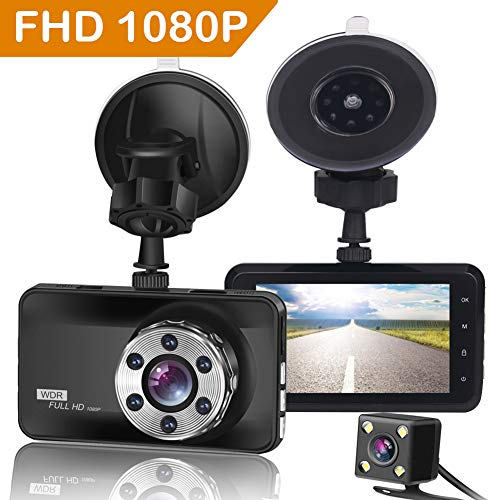 ORSKEY Dash Cam Front and Rear 1080P Full HD Dual Dash Camera In Car Camera Dashboard...