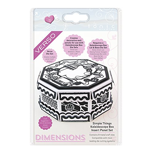 TONIC STUDIOS Simple Things Kaleidoscope Box Insert Verso Dimensions Dies by TONIC STUDIOS